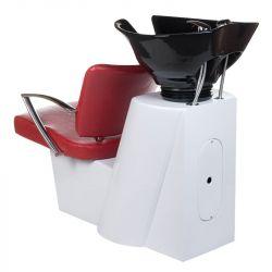 Kadeřnický mycí box LIVIO BH-8012 červený