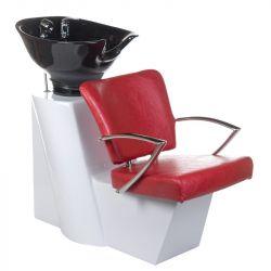 Kadeřnický mycí box LIVIO BH-8012 červený (BS)