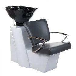 Kadeřnický mycí box LIVIO BH-8012 šedý (BS)