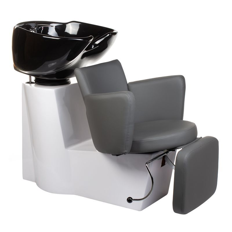 Kadeřnický mycí box LUIGI BR-3542 šedý