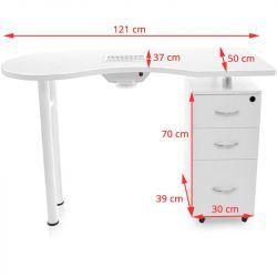 Kosmetický stolek SONIA 2042 bílý + pohlcovač prachu
