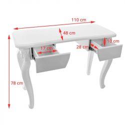 Kosmetický stolek SONIA 2049 STYL bílý