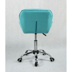 Kosmetická židle HC-111K tyrkys na kolečkách