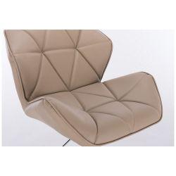 Kosmetická židle HC-111N na kulaté podstavě, karamel