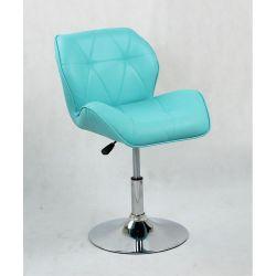 Kosmetická židle HC-111N na kulaté podstavě, tyrkys (V)