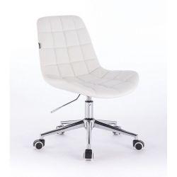 Kosmetická židle HR590K na kolečkách bílá (V)