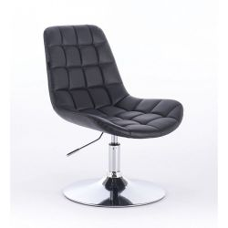 Kosmetická židle HR590N na kulaté podstavě černá