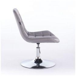 Kosmetická židle na kulaté podstavě HR590N šedá