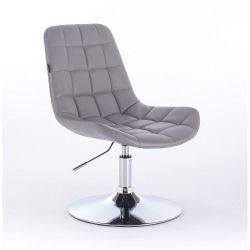 Kosmetická židle na kulaté podstavě HR590N šedá (V)