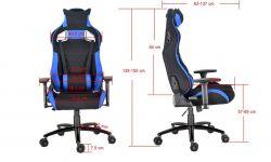 Látková herní židle X-2645 červená