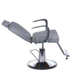 Barbers křeslo OLAF BH-3273 světle šedé