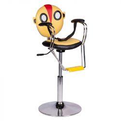 Dětské kadeřnické křeslo BR-6005 žluté