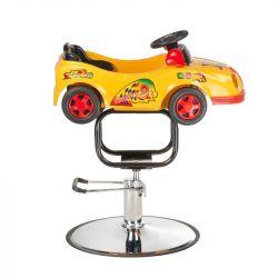 Dětské kadeřnické křeslo BW-602 žluté