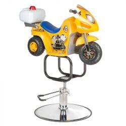 Dětské kadeřnické křeslo BW-604 žluté