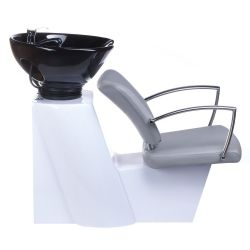 Kadeřnický mycí box LIVIO BH-8012 světle šedý