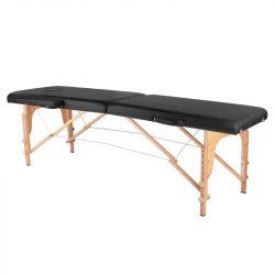 Skládací masážní stůl KOMFORT 2 kombinovaný - černý