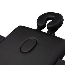 Skládací masážní stůl KOMFORT 3 - černý