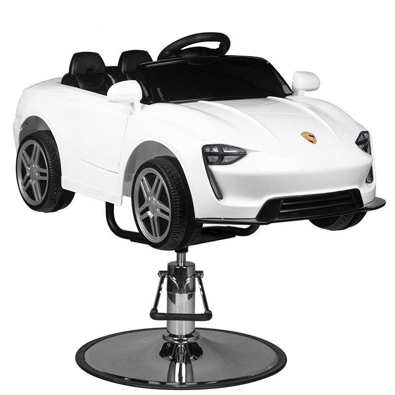 Dětské kadeřnické křeslo - autíčko MERC ROADSTER bílé