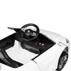 Dětské kadeřnické křeslo ROADSTER - autíčko bílé