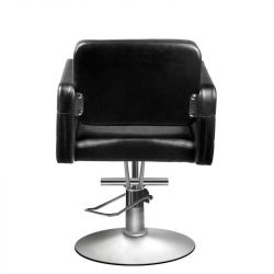 Čalouněná židle kadeřnická černá 90-1