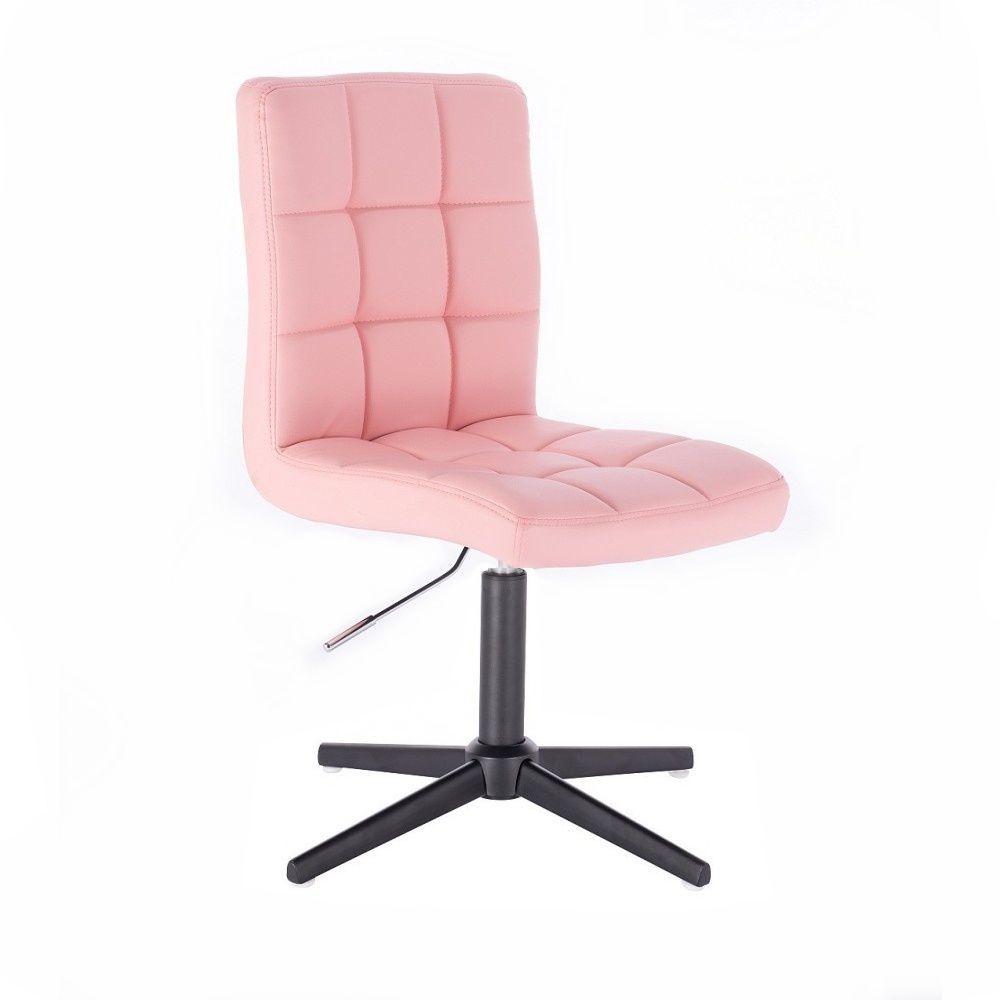 Kosmetická židle HC1015 na černém kříži - růžová