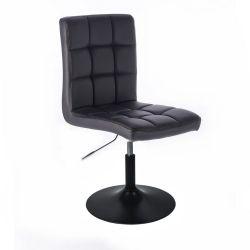 Kosmetická židle HC1015 na černém talíři - černá