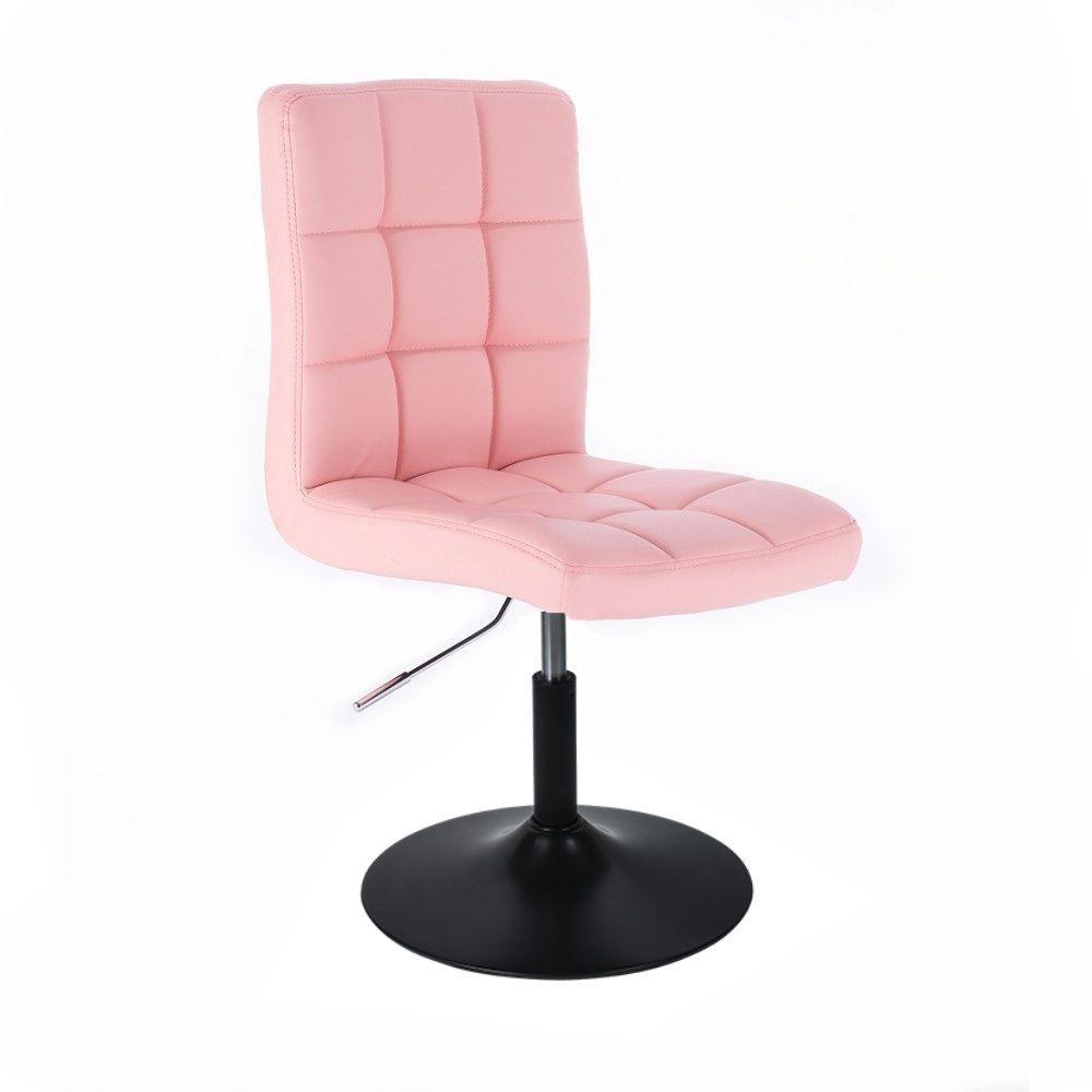 Kosmetická židle na černé HC1015m talíři - růžová