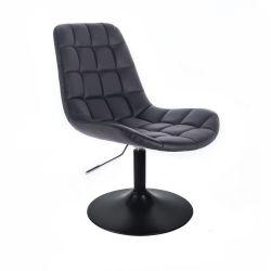 Kosmetická židle HC590 na černém talíři - černá