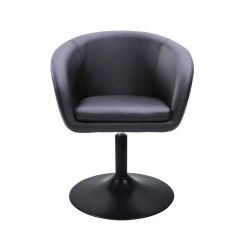 Židle HC-8326K na černé kulaté podstavě - černá