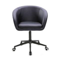 Židle HC- 8326K na černé podstavě s kolečky - černá