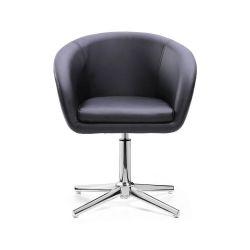 Židle HC-8326K na stříbrném kříži - černá