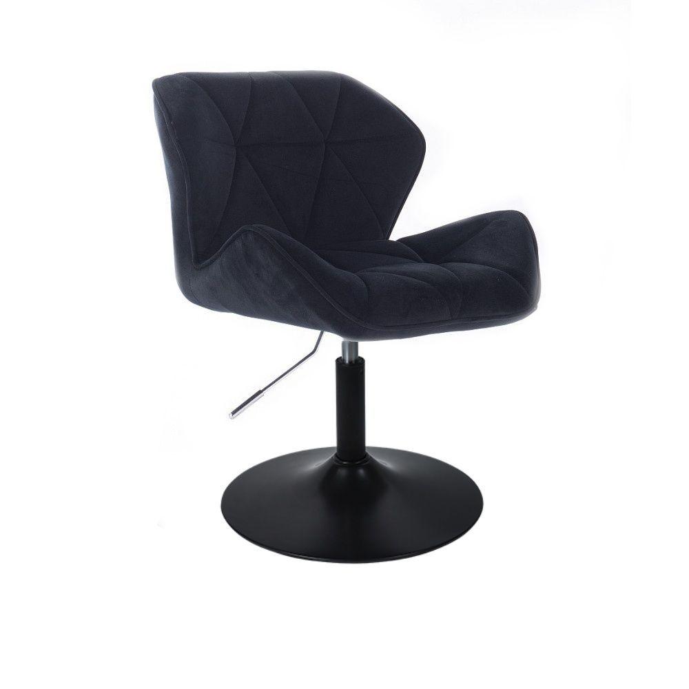 Židle HC111 VELUR na černém talíři - černá