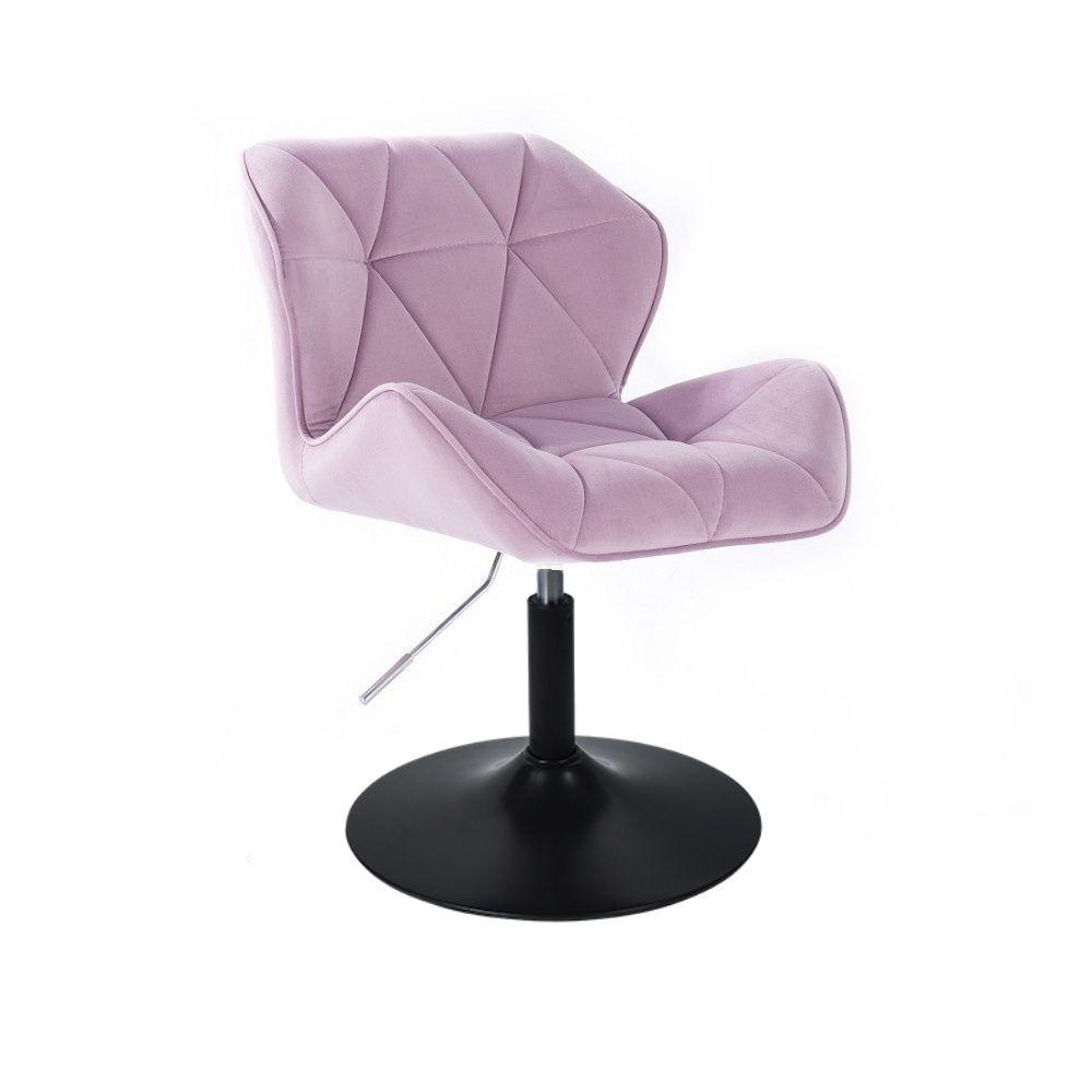 Židle HC111 VELUR na černém talíři - fialový vřes