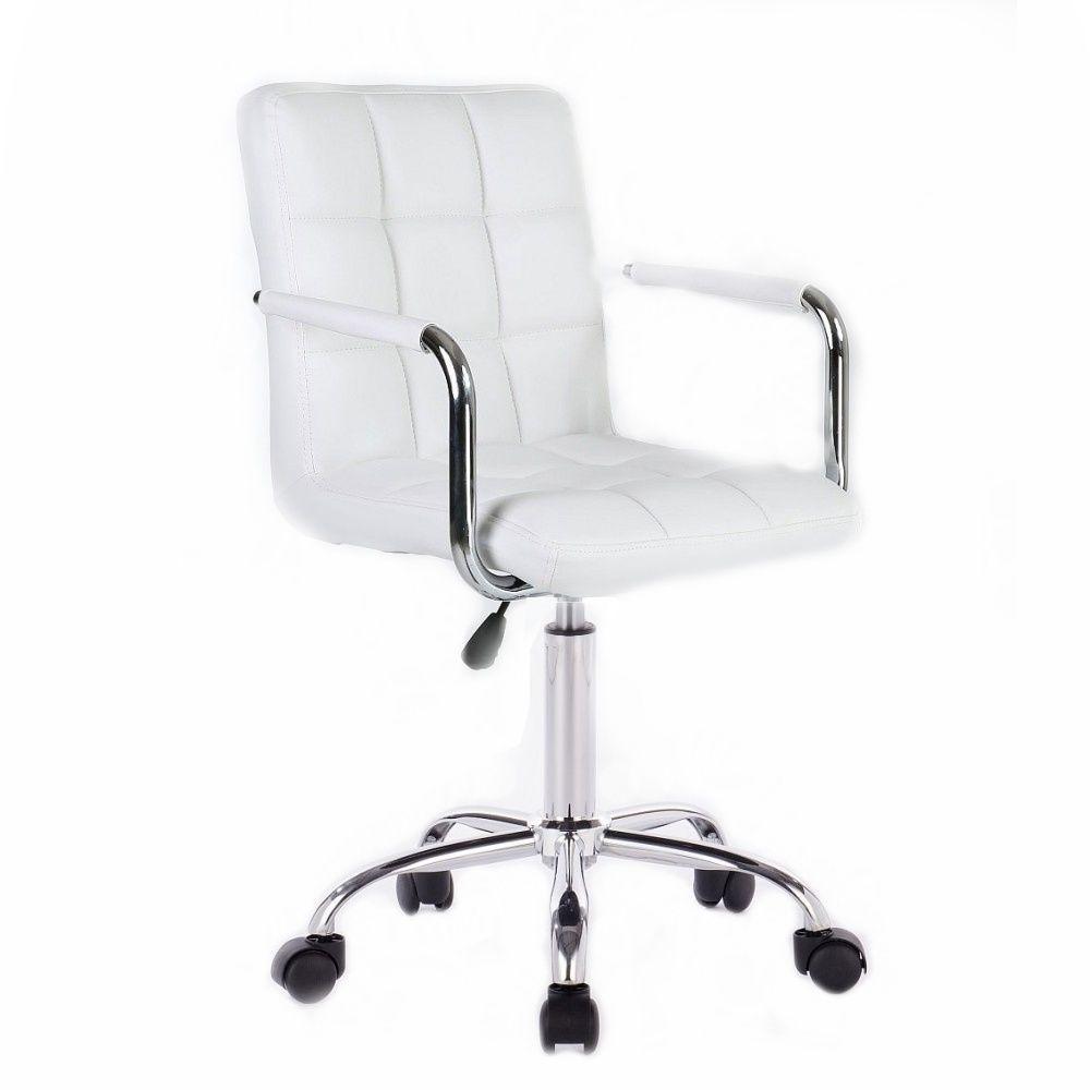 Kosmetická židle na kolečkách HC-1015KP bílá
