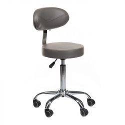 Židle BR-9934 na stříbrné podstavě s kolečky - šedá (BS)