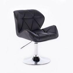 Kosmetická židle HC-111N na kulaté podstavě, černá (V)