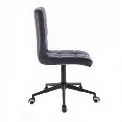 Kosmetická židle HC1015 na černé podstavě s kolečky - černá