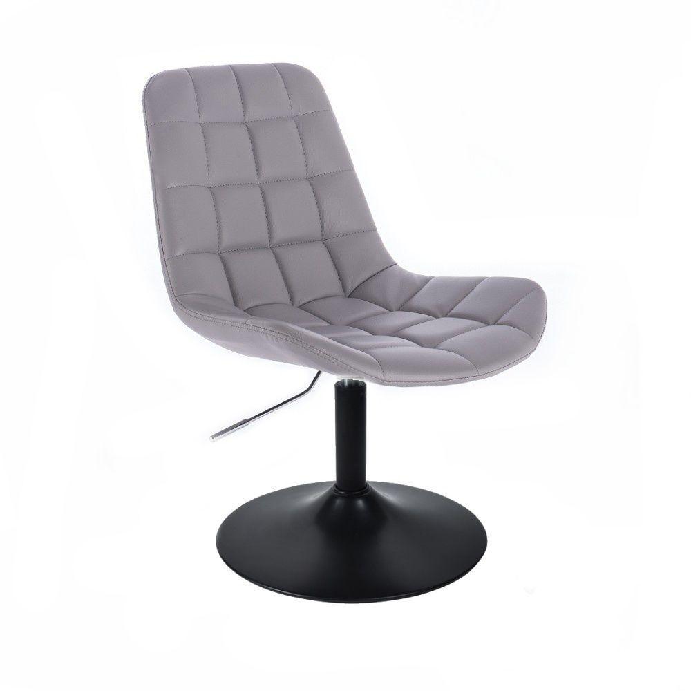 Kosmetická židle HC590 na černém talíři - šedá