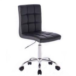 Kosmetická židle na kolečkách HC1015K černá (V)