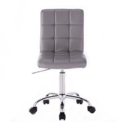 Kosmetická židle na kolečkách HC1015K šedá