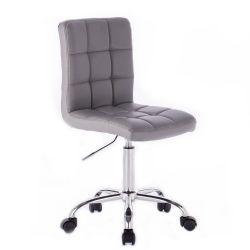 Kosmetická židle na kolečkách HC1015K šedá (V)