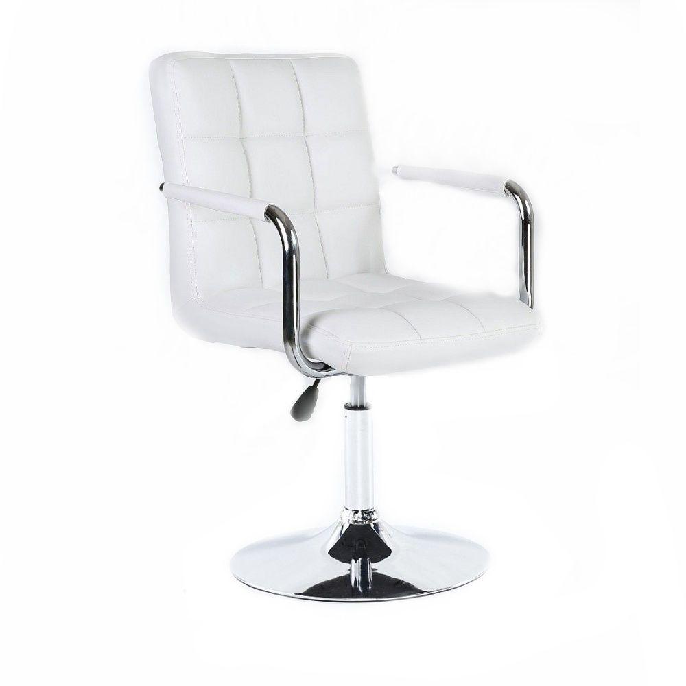 Kosmetická židle na kulaté podstavě HC-1015NP bílá