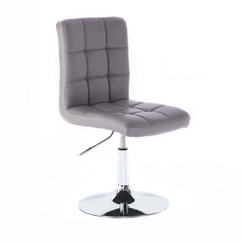 Kosmetická židle na kulaté podstavě HC-1015NP šedá