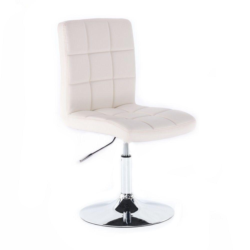 Kosmetická židle na kulaté podstavě HC1015N bílá