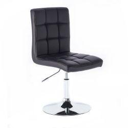 Kosmetická židle na kulaté podstavě HC1015N černá (V)