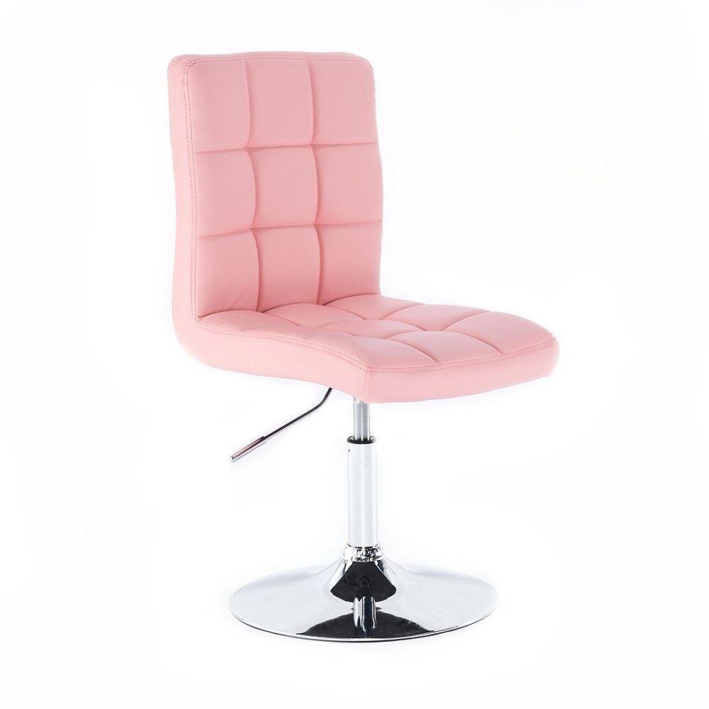 Kosmetická židle na kulaté podstavě HC1015N růžová