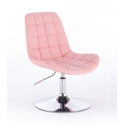 Kosmetická židle na kulaté podstavě HR590N růžová