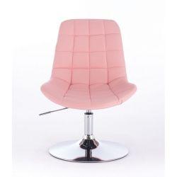 Kosmetická židle na kulaté podstavě HR590N růžová (V)