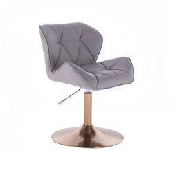 Kosmetická židle MILANO na zlatém talíři - šedá