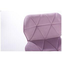 Kosmetická židle MILANO VELUR na zlatém kříži - fialový vřes